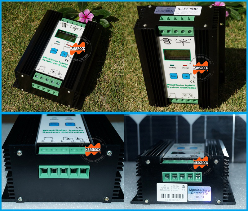 23a 24v Wind Solar Hybrid System Controller With Booster Charging ...