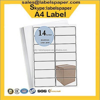 Colorful self adhesive blank address labels