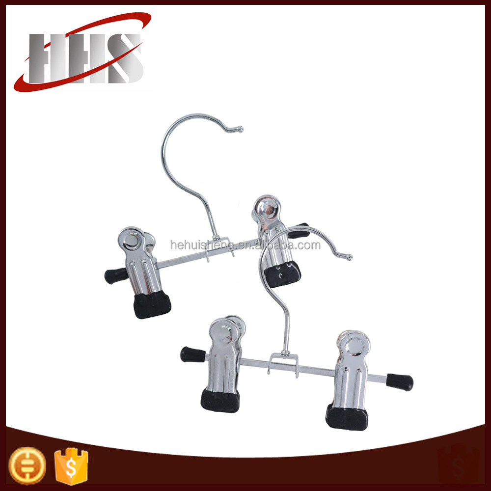 Small Metal Chrome Hanger For Doll Clothes/Socks