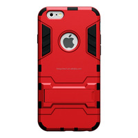 Red Dual Layer Slim Armor Rubber Cover Case for iPhone5/6/6plus