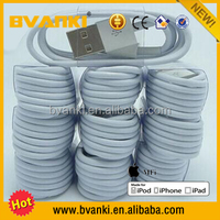 100% Guarantee Original 1M 8pin USB Cable For iPhone 5 5s 6 Plus Sync Charger Data Cable For iPad Air/Mini IOS9