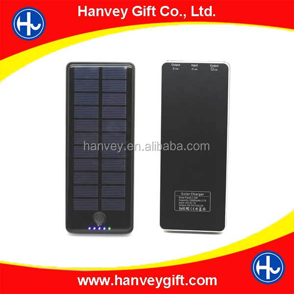 Portable black Solar Energy Panel Charger Power Bank For Mobile Phone PAD Tablet MP4