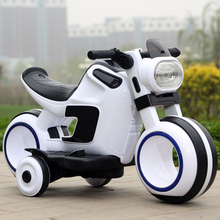 Factory direct sale children's science fiction four-wheel electric motocycle