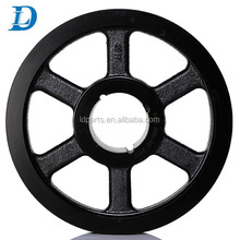 Cast Iron Material Double Groove V Belt Type Compressor Pulley