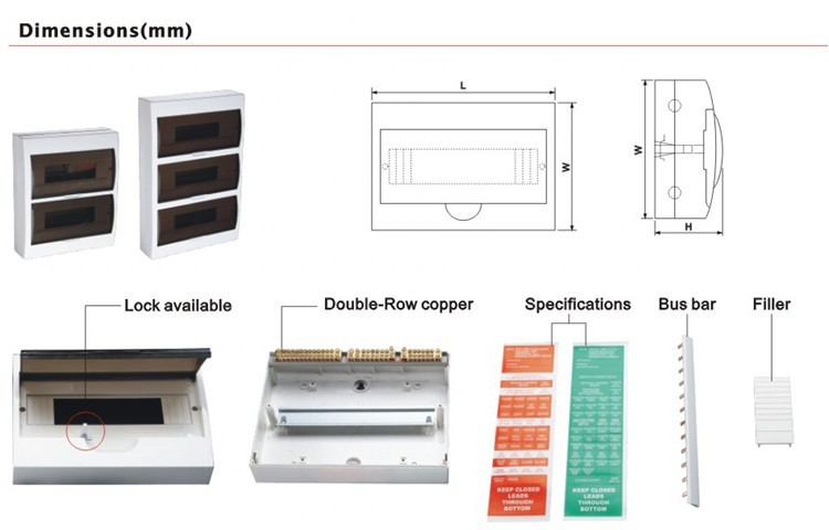 all kind of size waterproof home distribution box