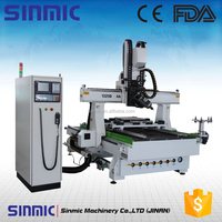4 axis 4*8 Feet ATC cnc router with spindle 180 degree rotate and AC servo motor