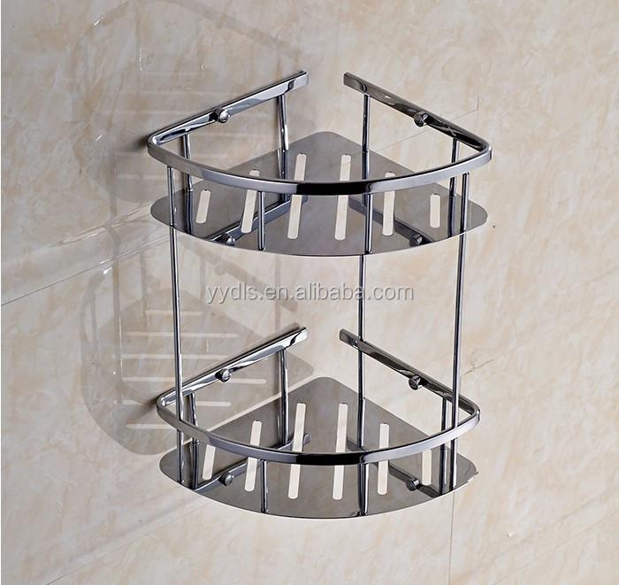 3160b Stainless Steel Bathroom Rack Bathroom Corner Basket