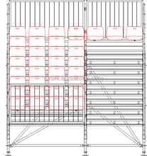Aneasy Temporary scaffolding demountable bleacher for renting use with Salin seat environment pro grandstand