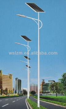 solar power energy street light with pole