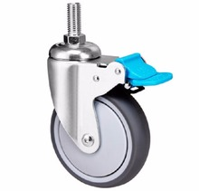 High Quality 100mm Threaded Stem Hospital Bed Medical Trolley Caster Wheels