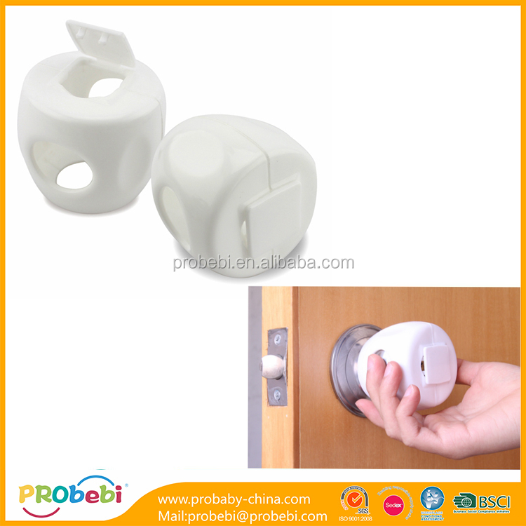 China Baby Home Safety Supplier Pp Plastic Rubber Round Knob Door