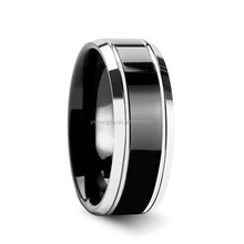 Fashion Black Plated Tungsten Ring Settings Without Stones New Thumb Rings For Men