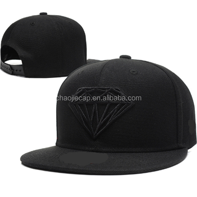 diamond embroidery flat cap wholesale snapback hats caps