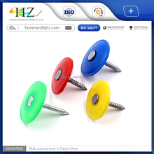 11 years manufacturer with factory price and high quality Plastic Cap Umbrella Head Roofing Nails