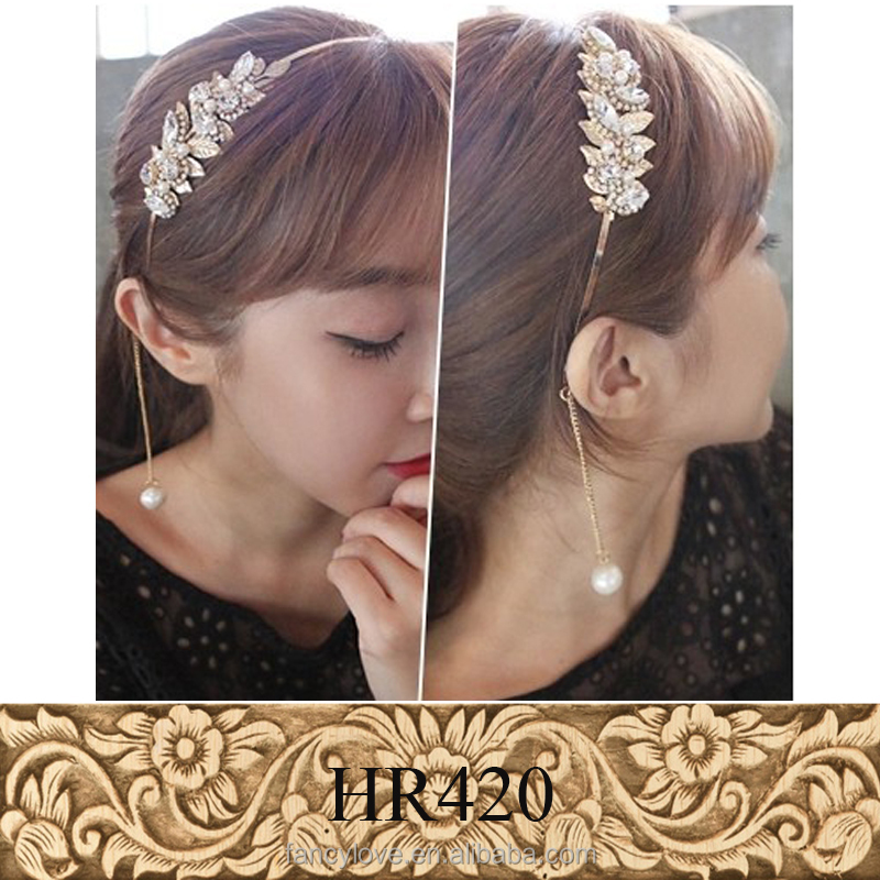Unique Design Crystal Leaves Hairbands <strong>Headband</strong> for Girls Headwear Hair Accessories