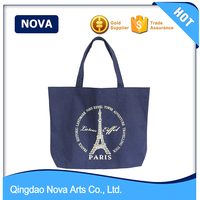 Laminted Fashion Hot Sale Women Custom Canvas Bag With Prints