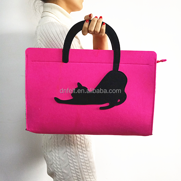 China manufacturers Wholesale felt beach tote bag hand bag for men