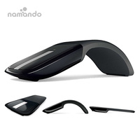 New Folding Mouse 2.4GHz Arc Optical Touch Wireless Mouse with USB Receiver for Notebook
