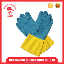 Chemical resistant oil proof neoprene and latex work gloves