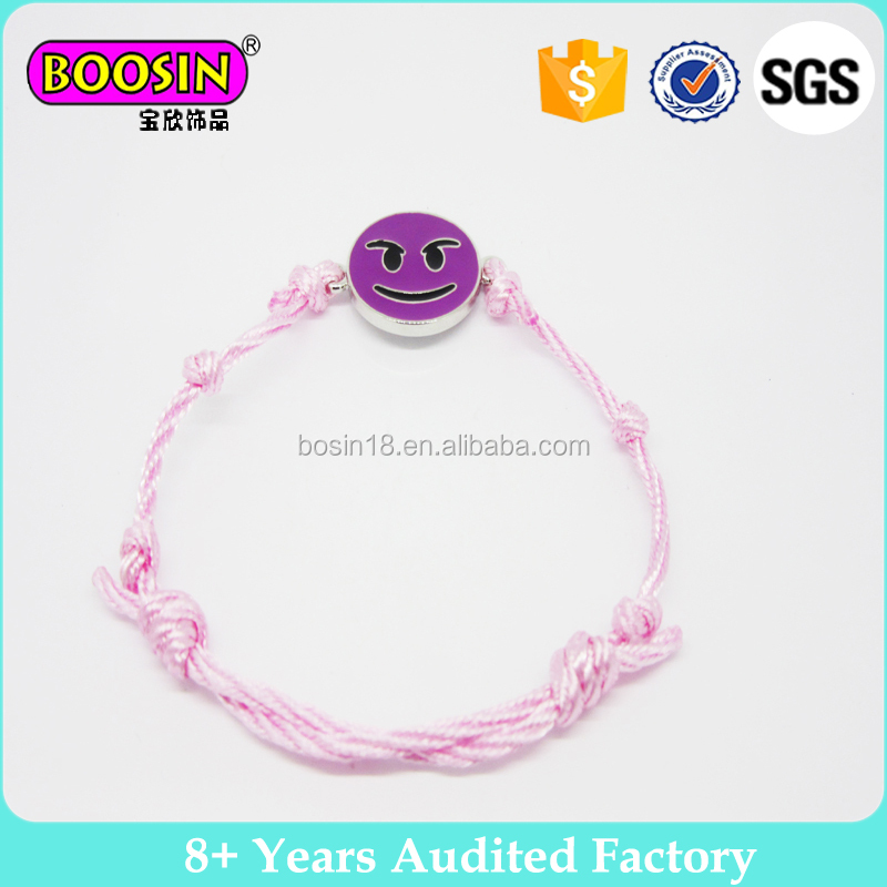 Wholsale fashion cord bracelet emoji friendship bracelets for friends #31777