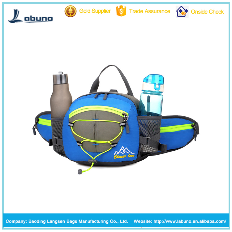 Multifunctional Water Resistant Waist Pack Bag Cycling Waist Bag With Water Bottle Holder