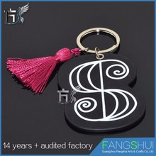 Promotional Factory direct supply alphabet letters key ring