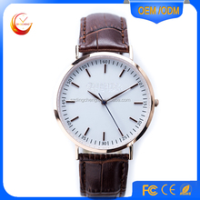 Customized Luxury Vogue Gold Men Watches Genuine Leather Wristwatch, fashion lady watch