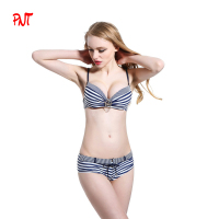 Safety belt shorts, beautiful accessories The navy style girl 2016 bikini