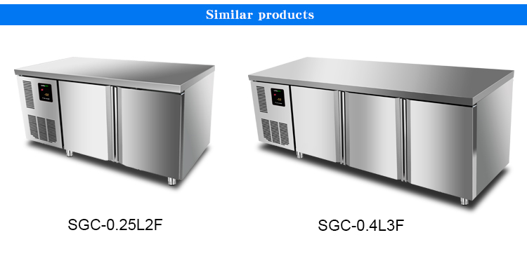 LVNI 1.5M best frost free commercial under counder freezer and refrigerator fridge for restaurant kitchen on sale