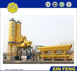 Hot sale HZS25 mini batching plant for building and roads construction equipments