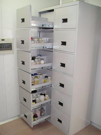 Laboratory commercial use furniture/lab steel cabinets