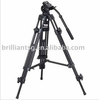 Double Extension Design and Handles Adjustable Video Tripod for 3-6kg Camcorder