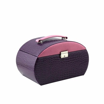 Wholesale handmade imitation leather jewelry box