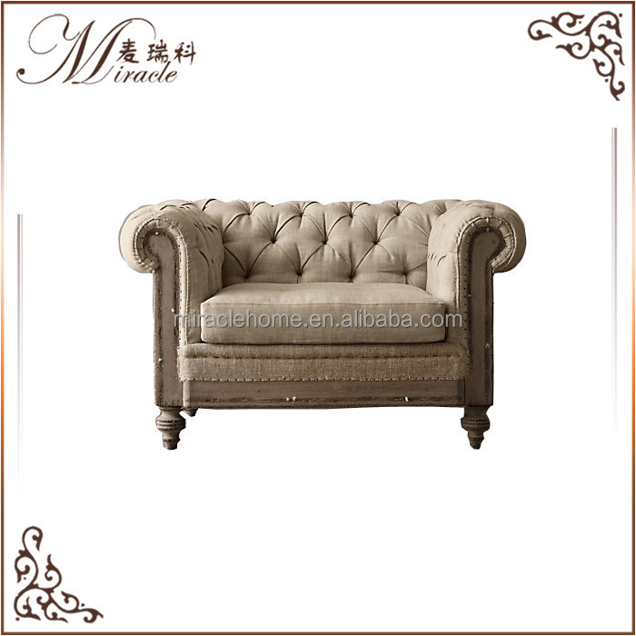Royal <strong>furniture</strong> upholstered single seat sofa