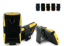 Extreme Rugged Impact Armor Hybrid Hard Case Cover Beltclip Holster With Stand For Motorola Falcon