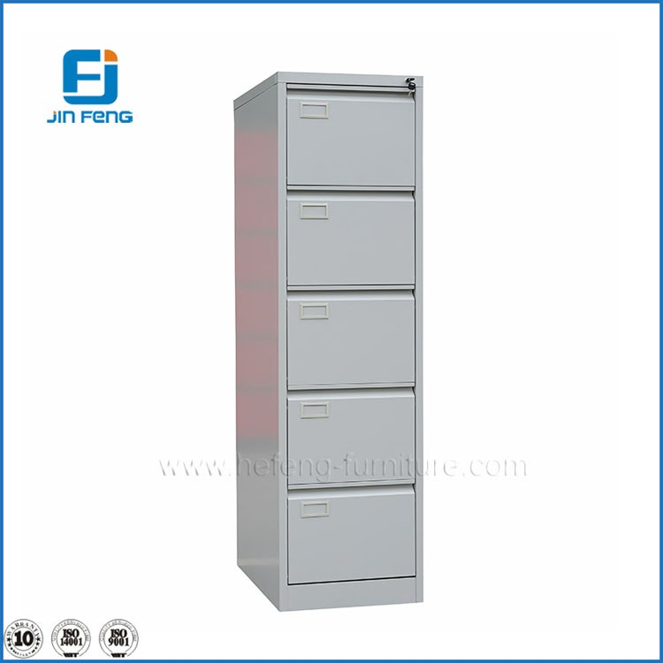 5 Drawer Steel Filing Cabinet, Metal Drawer Cabinet
