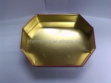 Special angle octagon food and gift tin box