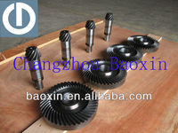 hypoid gear set for gearbox