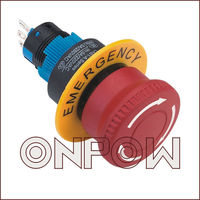 ONPOW elevator emergency stop switch(LAS1-A 22mm Series,Dia.22mm,CE,ROHS,REECH,IP40,IP65)