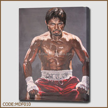 Hot human figure oil painting of boxing