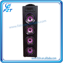 Cheap price support U Disk driver unit horn speaker UK-22 wooden bottom price for distributor