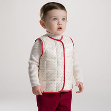 DB2969 dave bella 2015 autumn infant clothes toddlers waistcoats plaid baby vest