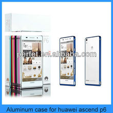 ultra thin design aviation aluminum hard case for huawei ascend p6