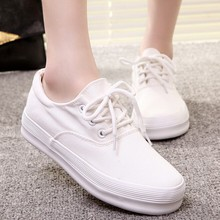 W91620A 2015 new design women canvas shoes pure color white canvas shoes