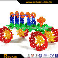 Plastic blocks with different colors DIY intelligence enlighten bricks