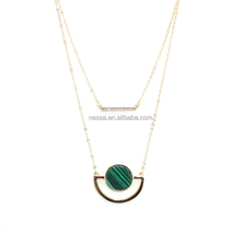 Fashion Gold Necklace Real Stone Jewelry Wholesale NSBJ-0006
