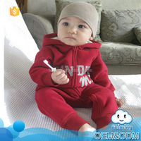 Bulk wholesale kids clothing suppliers china baby winter suit hooded long sleeve cotton comfortable boy baby clothes kids romper