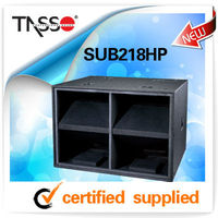 dual 2*18'' sub bass speakers outdoor sub box woofer TASSO SUB218HP