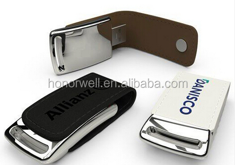 Promotion Magnet new products Leather Flash Drive