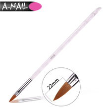 Best selling Alibaba high quality nail tools private label makeup brush acrylic handle nail brush